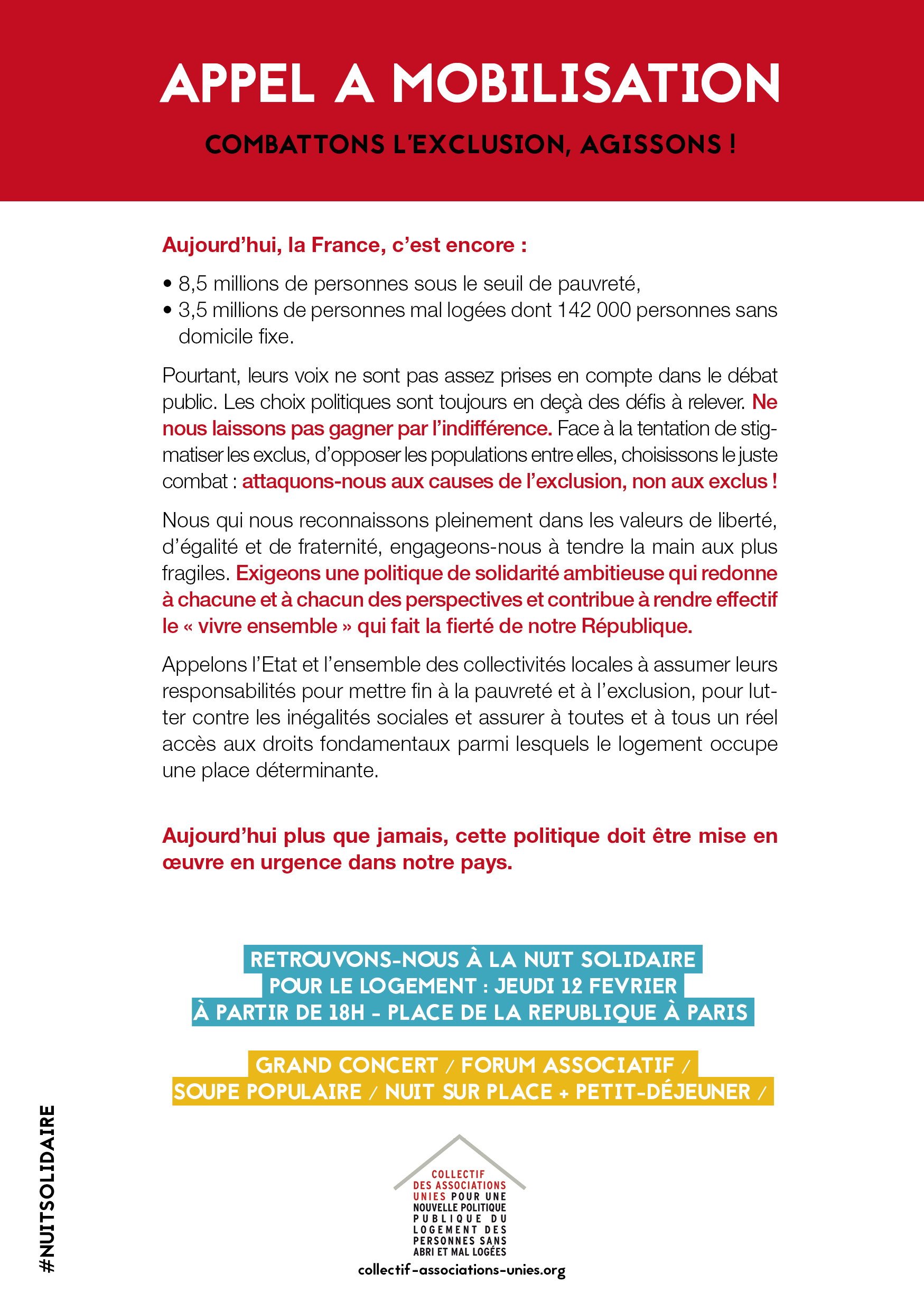 Appel Mobilisation Combattons Lexclusion Agissons